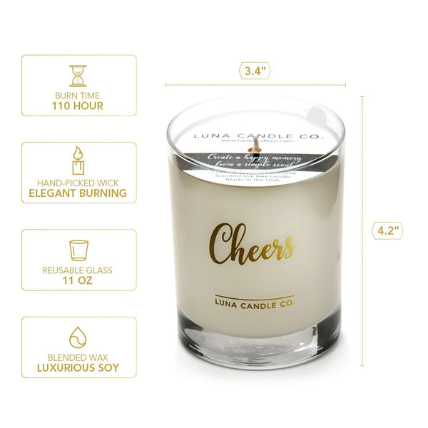 Peach Scented Luxurious Candle