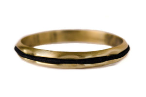 Hair Tie Bangle Brushed Gold
