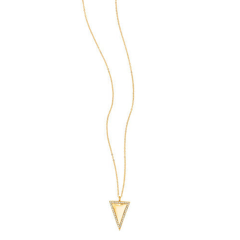 Chloe  + Isabel Pavé Triangle Long Pendant Necklace