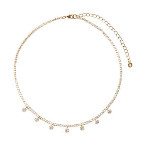 Chloe + Isabel Petits Bijoux Two-Row Choker Necklace - Gold