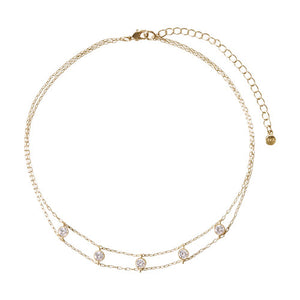 Chloe + Isabel Petits Bijoux Station Choker Necklace (Gold)