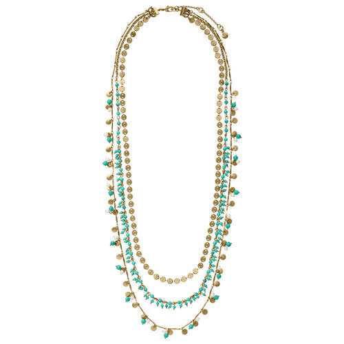 Chloe + Isabel Jaipur Three-Row Convertible Necklace