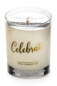 Natural Scented Vanilla Glass Candle