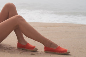 Beachcomber Espadrille: Womens Sea Star Orange