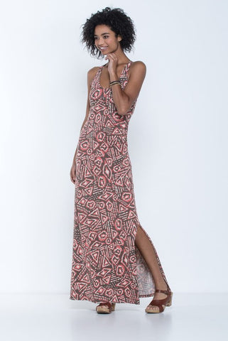 Toad&Co Montauket Long Dress - FALCON BROWN BRUSH