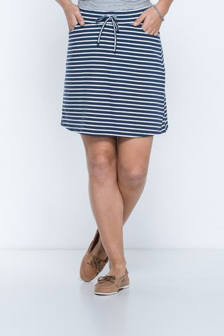 Toad&Co Tica Skirt - Deep Navy Stripe