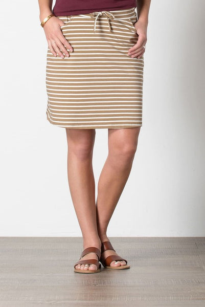 Toad&Co Tica Skirt - Honey Brown Stripe