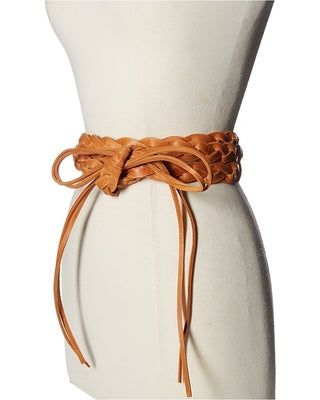 ADA Collection Maria Wrap Belt - Cognac