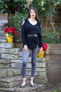 Riley Cold Shoulder Sweater
