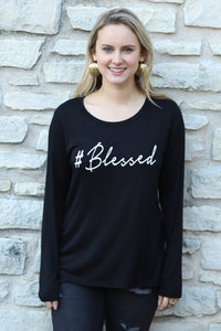 BLESSED Long Sleeve Scoop Neck