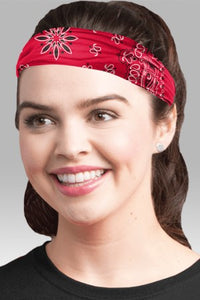 ADULT COMFORT BUFF  - RED BANDANNA