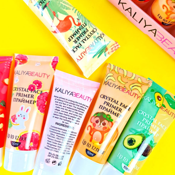 LOTE DE 24 PRIMER KALIYABEAUTY 12 HOUR  MAQUILLAJE LIQUIDO FRUTALES P5A45C2