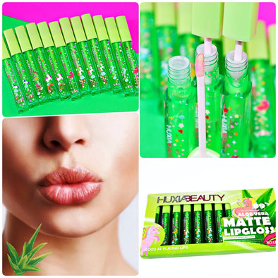 JUEGO DE 12 INDELEBLES MAGIC GLOSS ALOE VERA P2A5C5