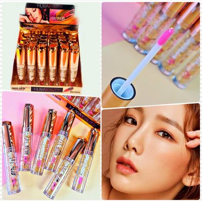 12 TINTAS LIP GLOSS MAGICO HUXIABEAUTY MAGIC COLOR P2A18C4