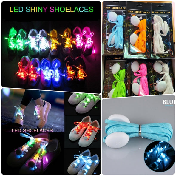 3 PARES DE AGUJETA LUZ LED SHOELACES p8A65C1
