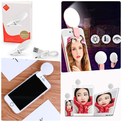 MINI Q SELFIE LUZ NATURAL LED 3 INTENSIDADES P8A69C1