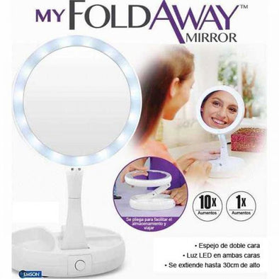 ESPEJO DOBLE DE LUZ LED MY FOLD WIN MIRROR DOBLE ESPEJO