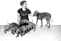 laura shaw founder of oonalfie british luxury dog brand