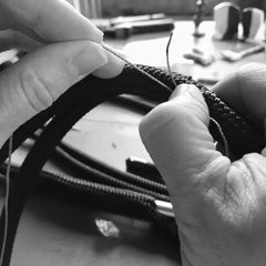 Traditional techniques used to make luxury dog collars by oonalfie