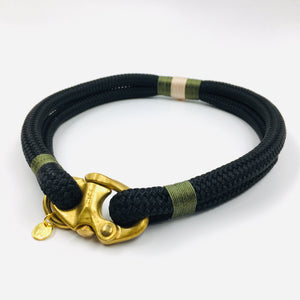 Classic Rope Dog Collar - African Safari