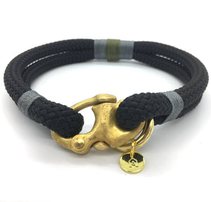 Perfect collar for little dogs.  Gorgeous luxury rope dog collar with gold coloured clasp. washable dog collars