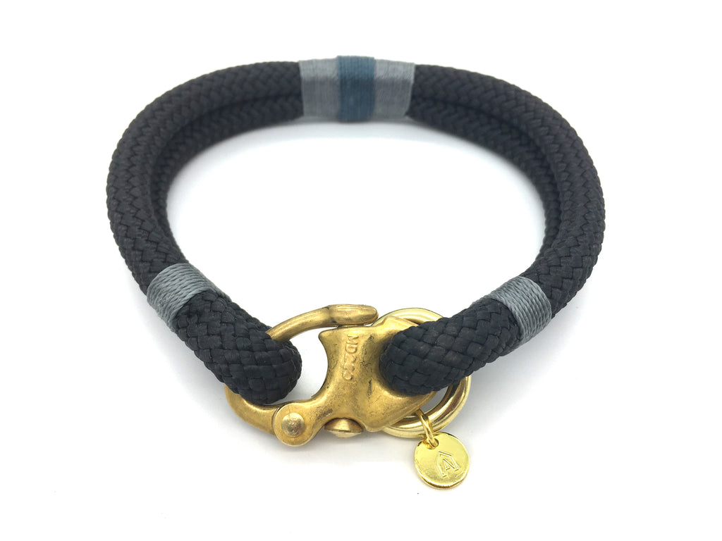 Oonalfie Petite Rope Dog Collar - Northern Lights