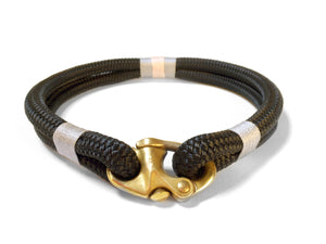Best selling luxury dog collar.  Durable Black rope dog collar. Designed and made in the UK