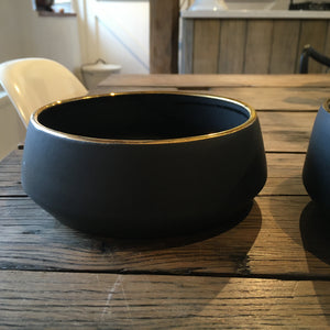 Oonalfie Luxury Gold Rim Dog Bowl