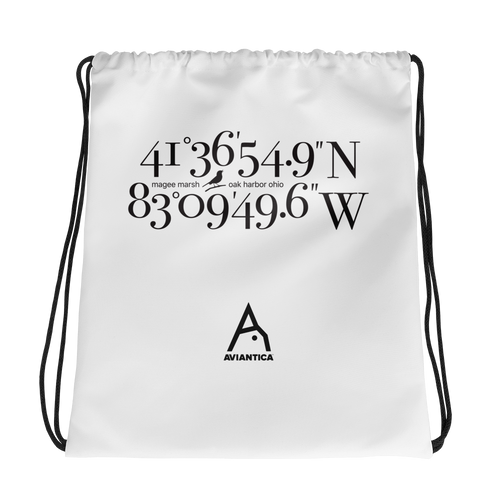 Magee Marsh Coordinates Drawstring Bag