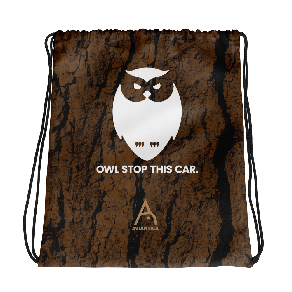 Owl Stop This Car Drawstring Bag