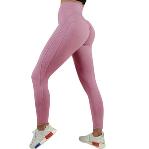 Sexy Push Up Leggings Women Workout Clothing High Waist Leggins Female Breathable Patchwork Fitness Pants ladies Gym Sports - dealod