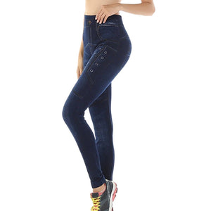 High Waist Skinny Long Stretchy trousers - dealod