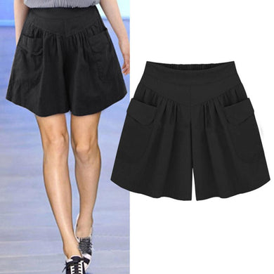 Shorts High Waisted Pocket Loose - dealod