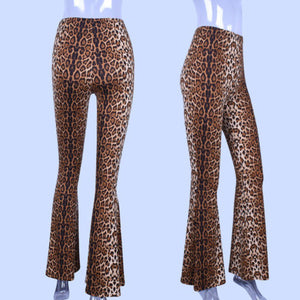 Leopard Print Pants High Waist - dealod