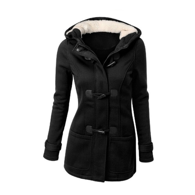 Coat Hooded Zipper - dealod