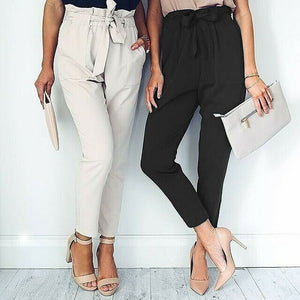 Pants High Waist Elastic - dealod