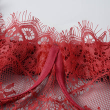 Lingerie Bra Set Red Lace and Panty - dealod