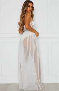 Dress Mesh Dress Sleeveless Backless - dealod