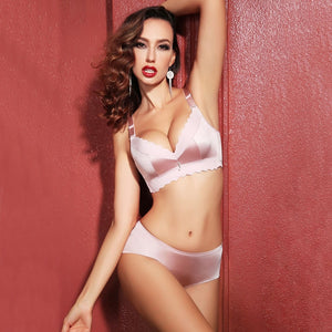 Bra Silk No Steel Ring and  Briefs - dealod