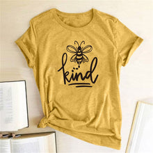 Hillbilly Women Bee Kind T-shirt Aesthetics Graphic Short Sleeve Cotton Polyester T Shirts Female Camisetas Verano Mujer 2019 - dealod