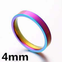Rainbow Colorful Ring Titanium Steel - dealod.com