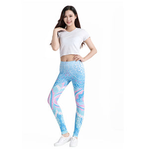 3D Print Elastic High Waist Leggings - dealod
