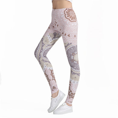 3D Print Elastic High Waist Leggings - dealod.com
