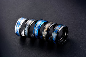 Stainless steel Carbon Fiber Ring - dealod
