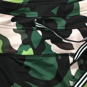 Army Green Printed Two Piece Set - dealod