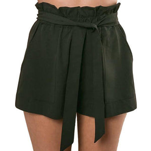Shorts High Waisted Lace up - dealod