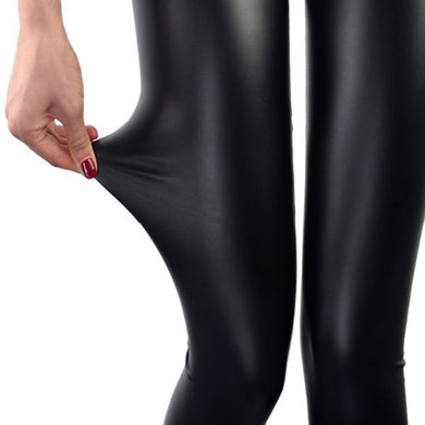 S-3XL New Autumn 2019 Fashion Faux Leather Sexy Thin Black Leggings Calzas Mujer Leggins Leggings Stretchy Plus Size 4XL 5XL - dealod