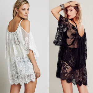 Dresses Lace Half Sleeve - dealod