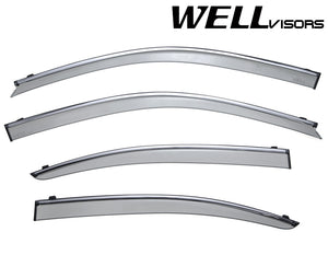 WELL VISORS LEXUS LS460 07-17 WITH CHROME TRIM