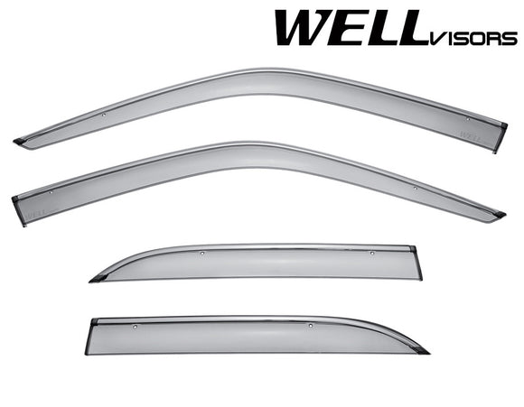 WELL VISORS LEXUS LS400 90-94 WITH CHROME TRIM